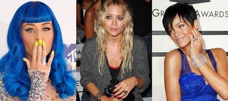 Celebrities y uñas neón