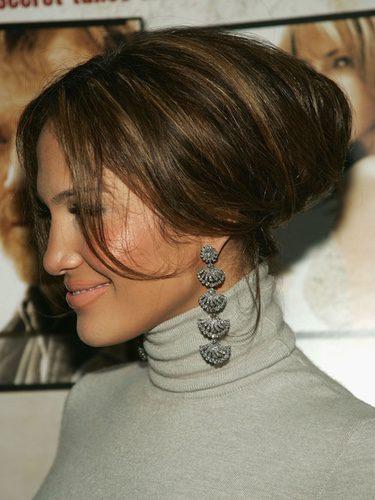 Jennifer Lopez con un abultado recogido