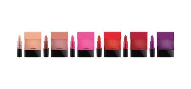 Perfumes de 'MAC Shadescents' con sus labiales