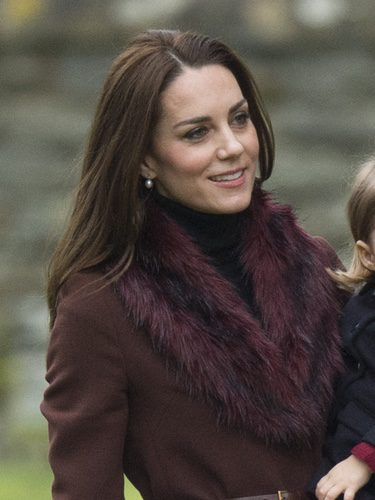 Kate Middleton opta por un look natural