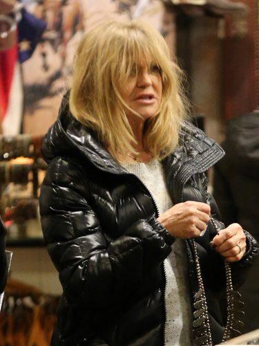 Goldie Hawn con flequillo y a lo loco