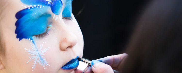Las pinturas al agua son perfectas para maquillarte en carnaval