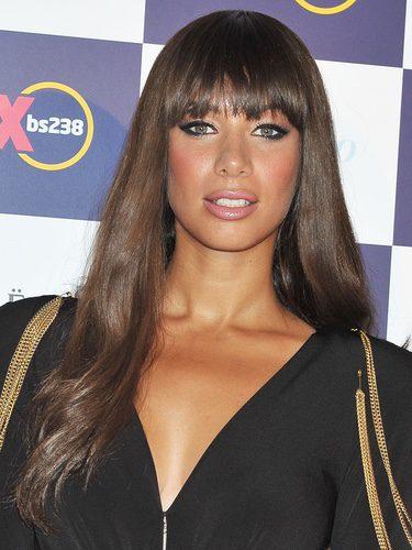 Leona Lewis con el flequillo recto