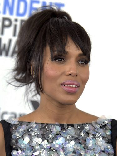 Kerry Washington con el flequillo abierto
