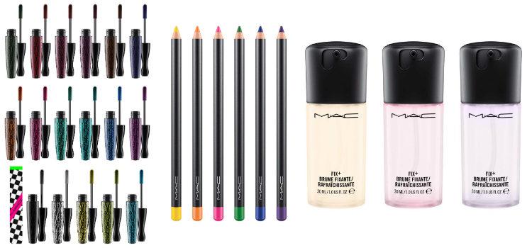 'MAC In Extreme Dimension Lash', 'MAC Chromagraphic Pencil' y 'MAC Prep+Prime Fix'