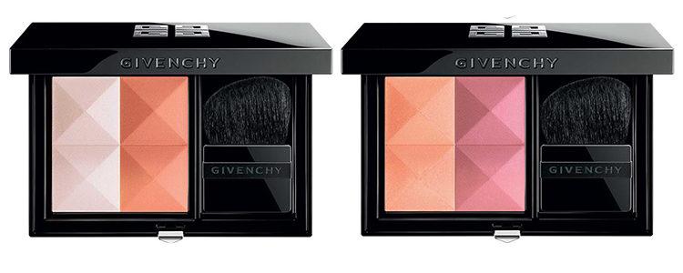 Dos modelos de la paleta de colorete 'Le Prism Blush' de Givenchy