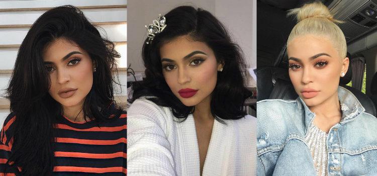 Los tonos mate destacan en los makeups de Kylie Jenner