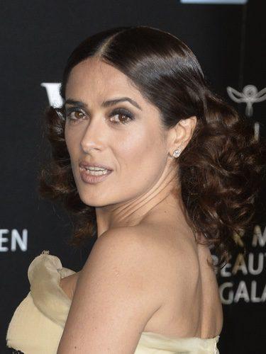 Salma Hayek en la gala Alexander McQueen Savage Beauty Gala