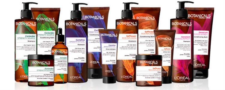 Productos de 'Botanicals Fresh Care', la nueva marca de L'Oreal