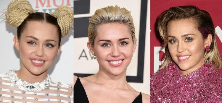 Utilizando máscara de pestañas, Miley Cyrus abre su mirada