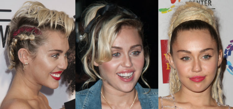 Para dar estructura a su rostro Miley Cyrus utiliza los polvos bronceadores