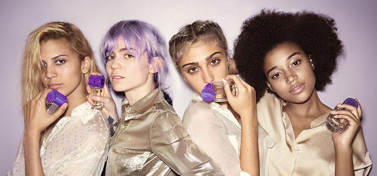 Kenya Kinski-Jones, Grimes, Lourdes León y Amandla Stenberg en la campaña de 'Pop Bluebelle'
