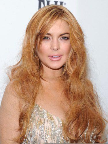 Lindsay Lohan en la gala AMFAR 2013 celebrada en Nueva York
