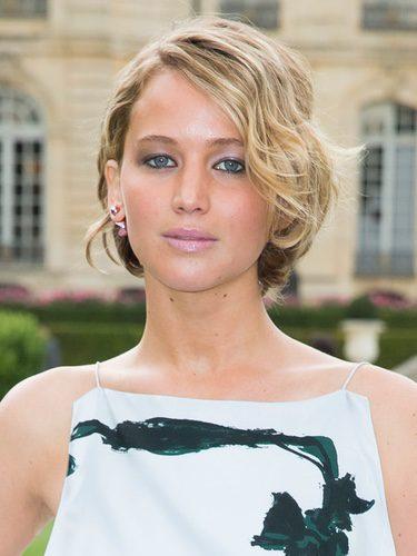 Jennifer Lawrence con corte bob ondulado