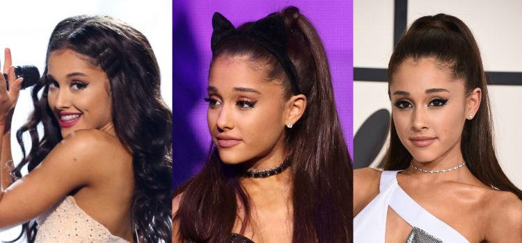 En Ariana Grande nunca puede faltar una mirada felina