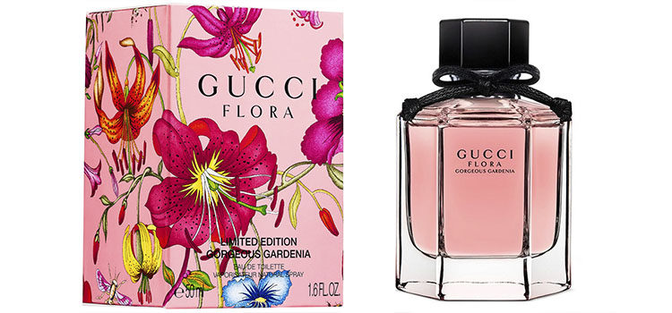 Packaging de la nueva fragancia de Gucci inspirada en las gardenias