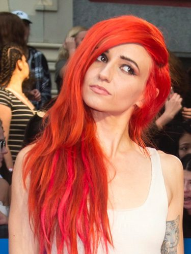 Lights con melena roja en los premios Much Music Video 2017