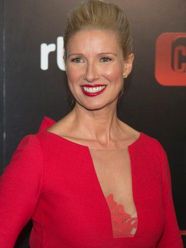 La presentadora apuesto por el rojo