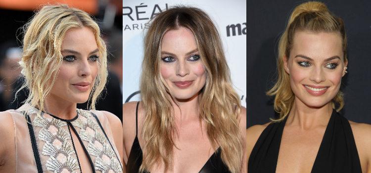 Cuando prefiere un look más atrevido Margot Robbie oscurece la línea inferior de pestañas