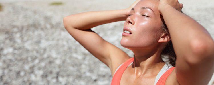 La sudoración puede provocar la formación de hongos