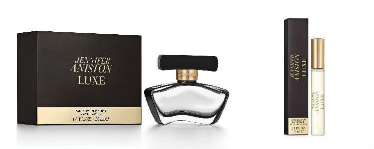 Frasco y rollerball del perfume 'Jennifer Aniston Luxe'