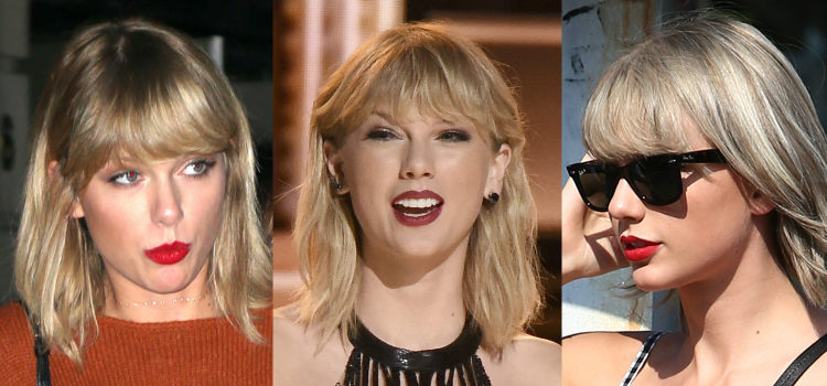 Los labios rojos son imprescindibles en los looks de Taylor Swift