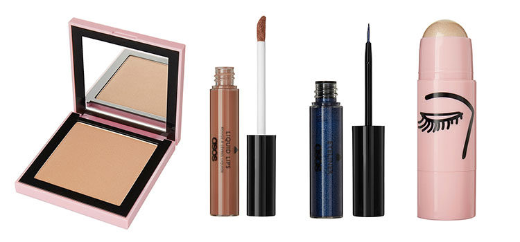 Polvos bronceadores, gloss, eyeliner e iluminador de la nueva línea de maquillaje 'Go Play' de Asos