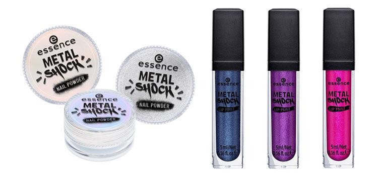 Sombras y labiales de acabado metálico de la nueva colección 'AwesoMetallics' de Essence