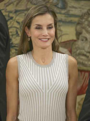 La mirada triste de la Reina Letizia
