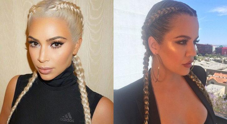 Las hermanas Kardashian, Kim (izquierda) y Khloe (derecha)