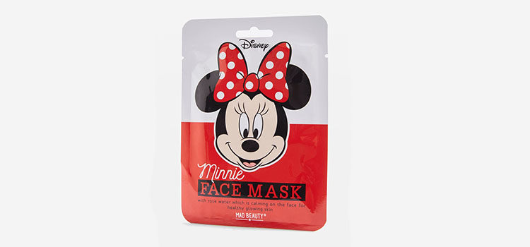 Presentación de la mascarilla de Minnie Mouse de Mad Beauty