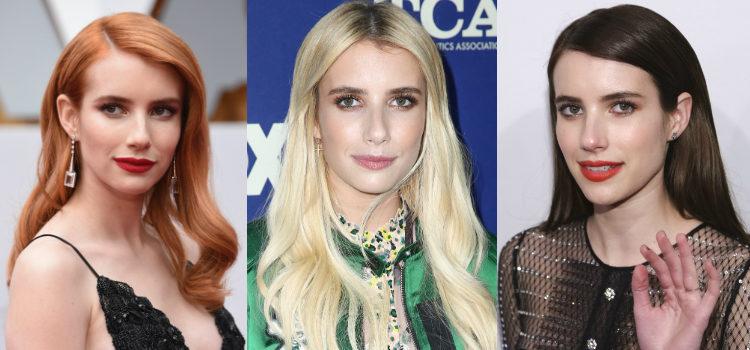 Las cejas gruesas enmarcan el rostro de Emma Roberts