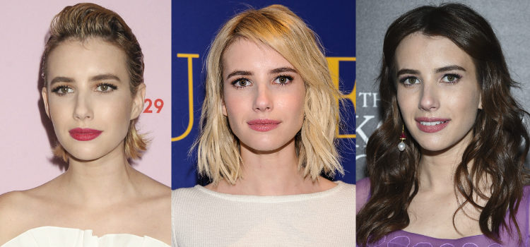 Para maquillar la mirada Emma Roberts apuesta por un sencillo delineado