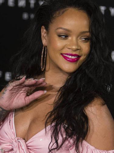Rihanna, en la presentación de su línea de maquillaje en Madrid