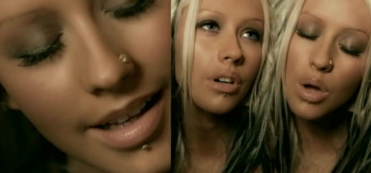 Christina Aguilera en el videoclip 'Beautiful'