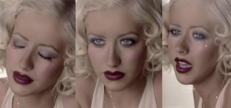 Christina Aguilera en el videoclip 'Hurt'
