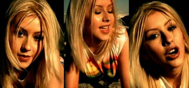 Christina Aguilera en el videoclip 'Genie in a bottle'