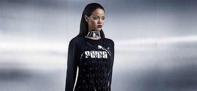Una de las últimas colaboraciones de Puma fue con la cantante Rihanna para 'Fenty'