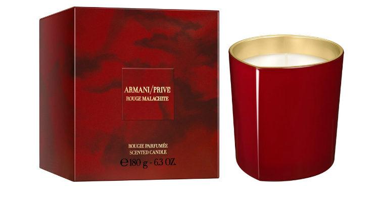 La vela aromática 'Rouge Malachite' de Armani Privé