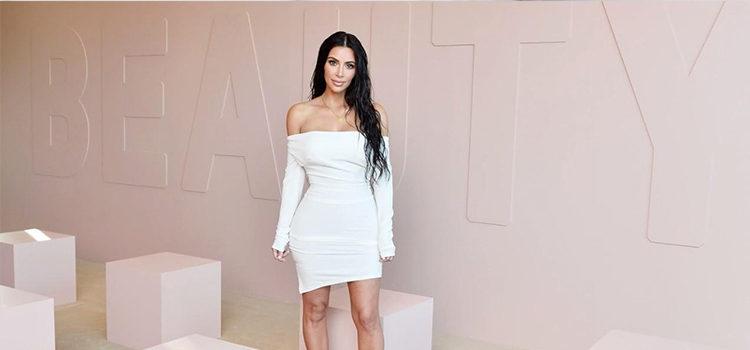 Kim Kardashian en la presentación de 'KKW Beauty'