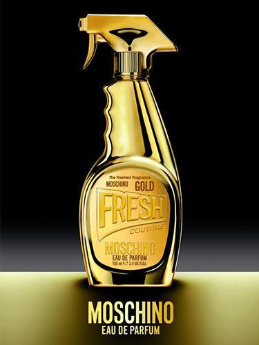 Diseño de 'Gold Fresh Couture', el nuevo perfume de Moschino