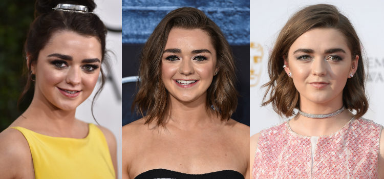El iluminador le da al look de Maisie Williams ese toque radiante