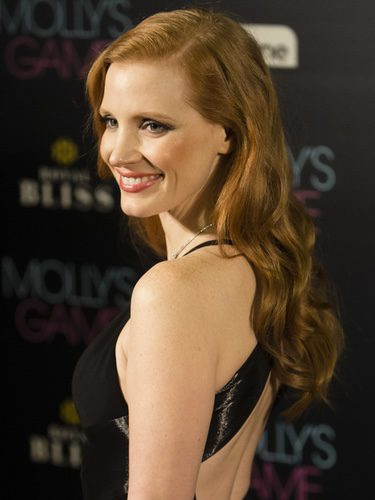 Jessica Chastain radiante en Madrid