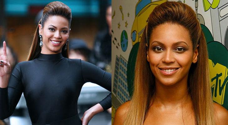 La cantante Beyoncé, con un semirecogido