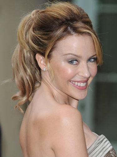 Kylie Minogue, con coleta