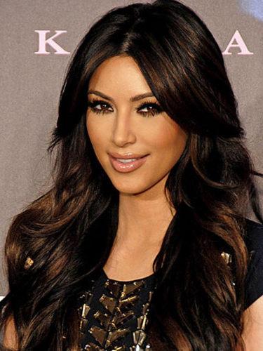Kim Kardashian, con melena larga morena