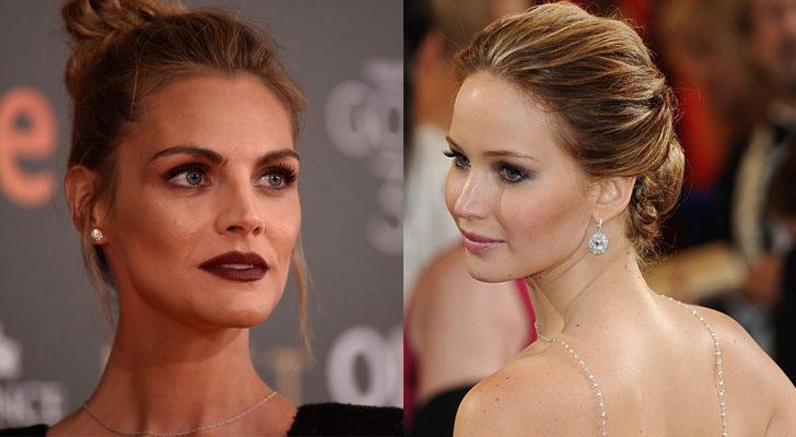Amaia Salamanca (izquierda) y Jennifer Lawrence (derecha)