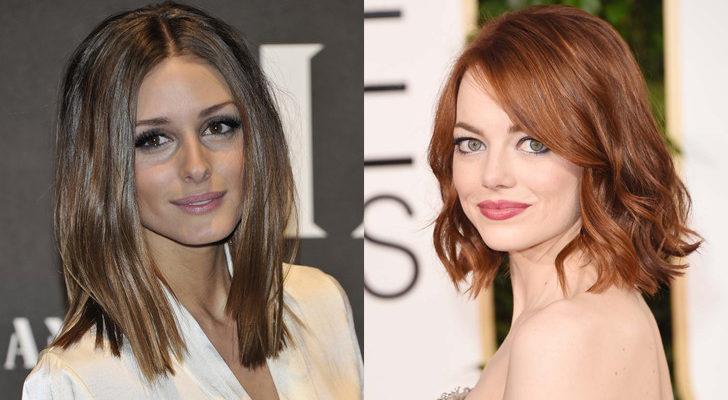Olivia Palermo (izquierda) y Emma Stone (derecha)