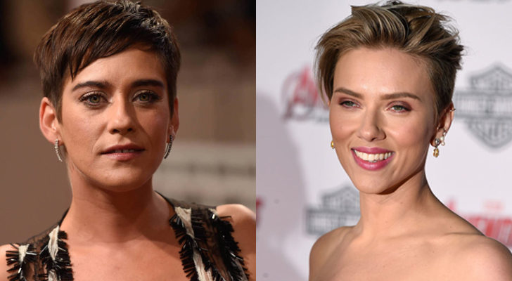 María León (izquierda) y Scarlett Johansonn (derecha)