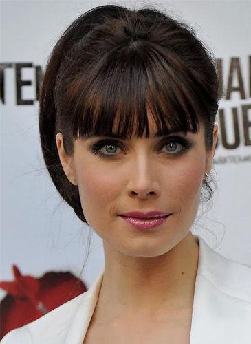 Pilar Rubio, con flequillo recto
